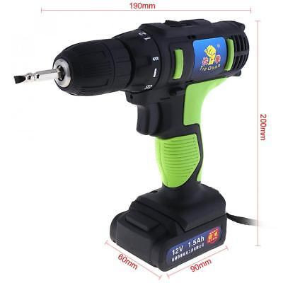 Electric Drill/Screwdriver w/ 2 Li-ion Batteries & Two-speed Adjustment Button