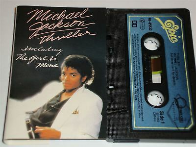 Michael Jackson - Thriller  EPC4085930 Cassette Tape Blue Paper label