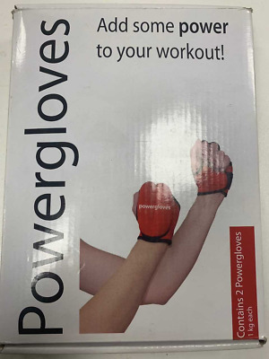 Powergloves by Powerhoop, 2 x 1.0 Kg each - New - Weighted Training Gloves