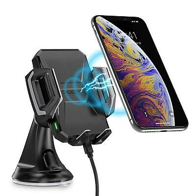 Fast Wireless Car Charger USB Type C 75W  Charging Mount Stand with stand