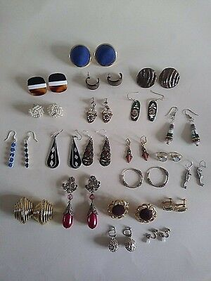 Job Lot of Vintage Clip On and Pierced Earrings Over 20 Pairs