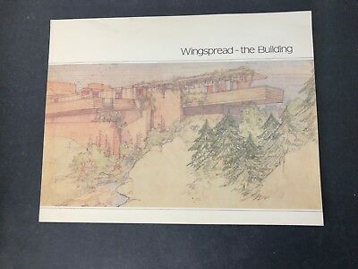 Vtg Architecture Frank Lloyd Wright WINGSPREAD Wisconsin Prairie Period House