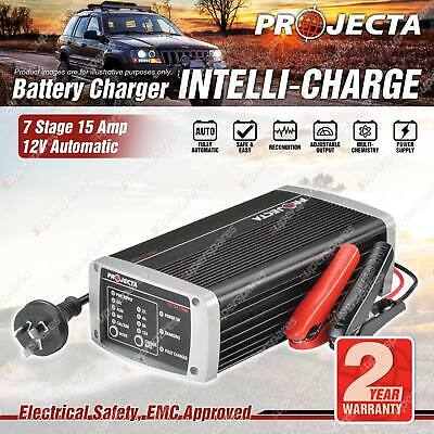 Projecta 12 Volt Automatic 15A 7 Stage Battery Charger Suit AGM Calcium