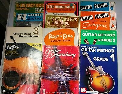 Guitar Method teaching book lot x12 Hal Leonard Alfred's Mel Bay plus more