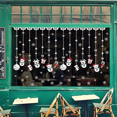 DIY Christmas Wall Stickers Shopping Mall Glass Display Window Decal Sticker -#