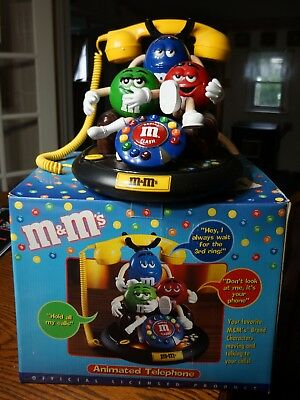 Animated Talking Moving Telephone M&M's Candy Characters Phone Red Green & Blue