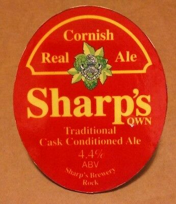 SHARP'S (Cornwall) brewery OWN real cask ale beer pump clip front Rock sharps
