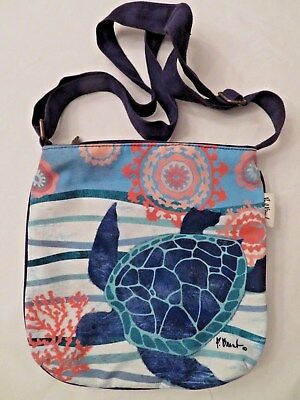 Paul Brent Sea Turtle Bag With Adjustable Shoulder Strap Galapagos