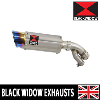 BMW S1000XR 2015-2019 Exhaust Silencer 200mm Round Stainless + Blue Tip SL20R