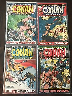 Marvel Comics CONAN THE BARBARIAN 13 14 16 17 1972 Vintage Set Very Clean