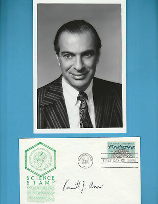 Kenneth J Arrow (Nobel Prize Economics 1972) Signed First Day Cover With Photo 2