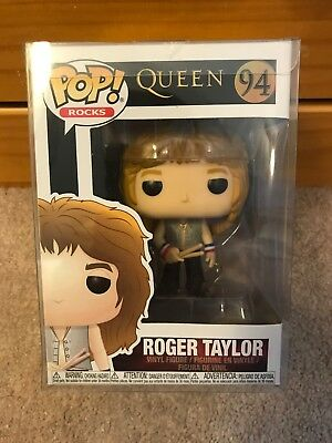 Queen Roger Taylor Pop! Vinyl Figure Funko #94 w/ POP Protector IN STOCK