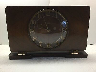 Smiths Large 8 day Wind Up Vintage Mantle Clock - Working Condition