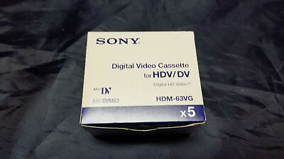 5 Sony HDM-63VG HD tape New Sealed Box of 5