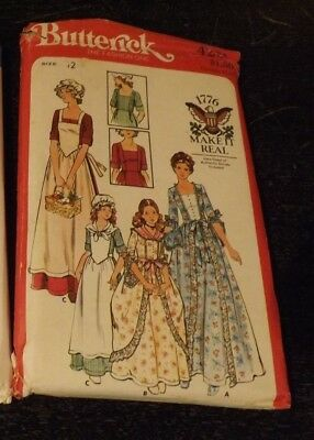 VTG Women 12 Girl Revolutionary Costume Colonial Bodice Skirt Pattern Uncut