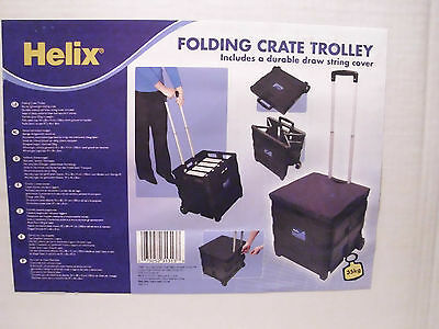Wheeled Folding Cart Folders Books Trunk Camping Shopping Tool Box Helix New