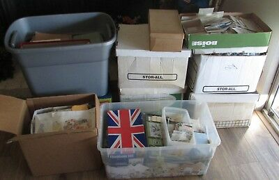 Worldwide Stamps lot. Mixed lot of 1000 different used / unused off paper stamps