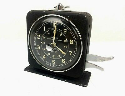 Vintage Smiths Interval Timer Fully Working Black Collectable Clocks