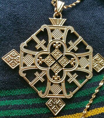 Ethiopian cross 18K Gold Plated