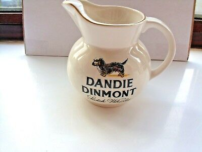 large dandie dinmont scotch whisky water jug no markings on the base in VGC