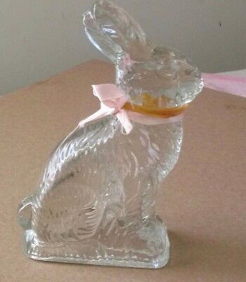Glass candy container Peter rabbit old no chips or cracks