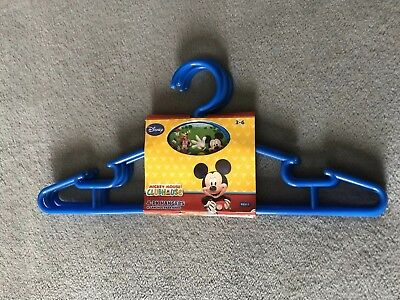 Mickey Mouse Clubhouse Clothes Hangers Kids Boys Girls - 4 Pack Disney Delta