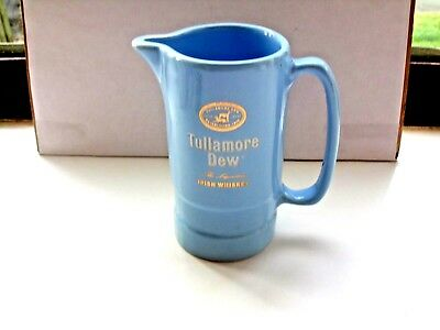tullamore dew irish whiskey water jug light blue no markings on base in VGC