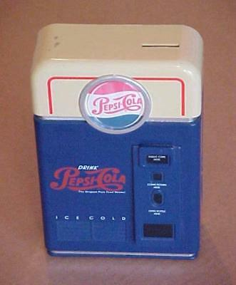 Pepsi Soda Machine - Coin Sorter Bank - 1998