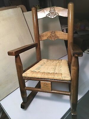 Vintage DUCKS UNLIMITED Duey, Suzy Childs Rocking Chair