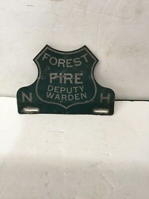 Vintage New Hapshire Fire Warden Plate Topper