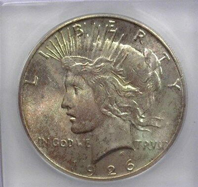 1926 Peace Silver Dollar Icg Ms64 Valued At $125!