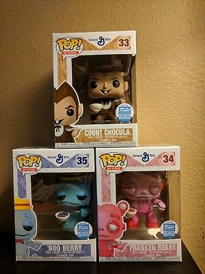Funko Pop! Ad Icons: Cereal Monsters 3-Pack Bundle #33 #34 #35New