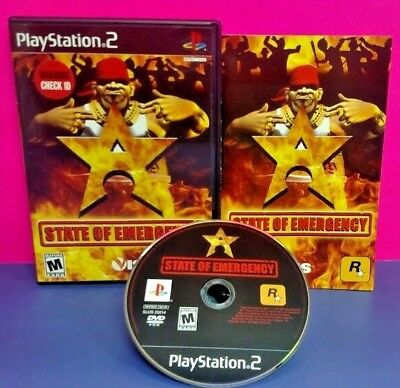 State of Emergency -  PS2 Playstation 2 COMPLETE Game 1 Owner Mint Disc