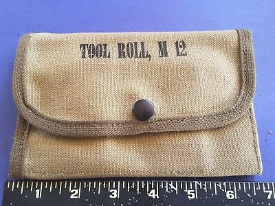 US army military surplus canvas tool roll m12
