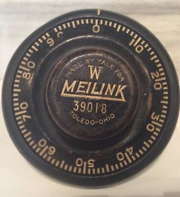 W  MEILINK Antique Safe Combination Dial And Stem #39018 Made By Yale