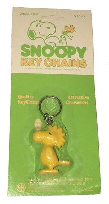 Vintage Peanuts Aviva Key Chain SEALED HP 3D Snoopy's Pal WOODSTOCK UNPUNCHED