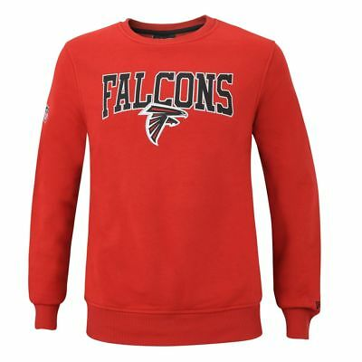 New Era NFL ATLANTA FALCONS Team Apparel Script Crew Sweatshirt NEU//OVP