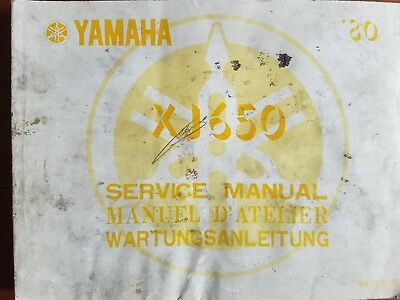 Manuel d'atelier, service manual, YAMAHA 650 XJ, 1980. Francais, English.1e