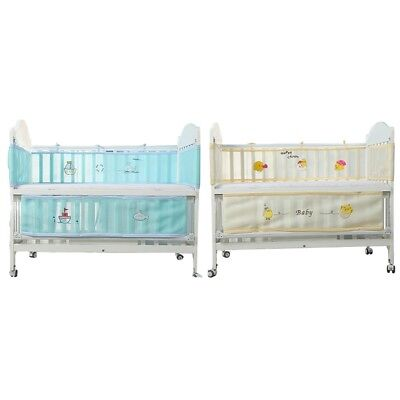 1pc Long Baby Crib Bumper&1pc Short Bumper Lovely Infant Nursery Bed Protector