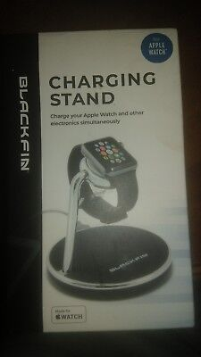 Black Fin Charging Stand For Apple Watch - Black/Sliver