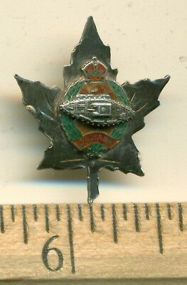 """Canada WWII Armoured Corps Sweetheart Sterling Pin 1"""""""
