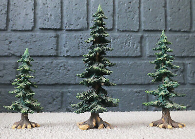 Department 56 WINTER PINE TREES with Pine Cones, Village Accessories Dept. 56
