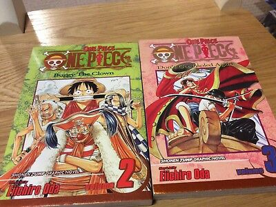 One piece volume one and two paperbacks