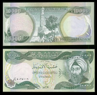 2 X 10,000 Iraqi Dinar Note!! Circulated!! Authentic!! IQD!