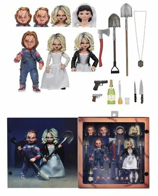 """NECA Bride of Chucky - CHUCKY & TIFFANY 2-pack 7"""" scale (Child's Play) IN STOCK"""