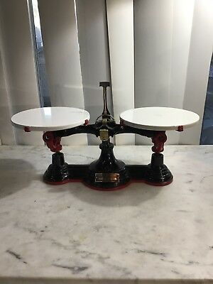 Antique Henry Troemner No. 4 Apothecary Cast Iron Balance Scale