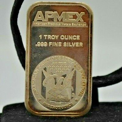Apmex  1 Troy Ounce .999 Fine Silver Bar .