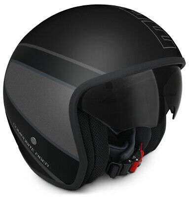 Casco Momo Design Jet Raptor Black Matt In Fibra