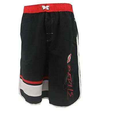 56b5b6a555 New Jersey Devils Official NHL Kids Youth Boys Size Bathing Suit Swim Trunks  New
