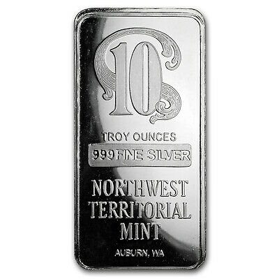 10 oz Silver Bar - Northwest Territorial Mint - SKU#171802